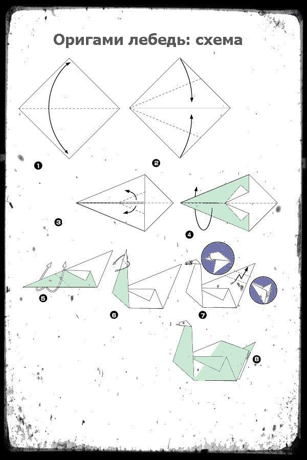 Картинки как сделать лебедя из бумаги